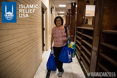 Islamic Relief USA's Ramadan food box distribution at Dar Al Hijrah in Virginia.
