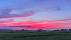 Dye in crimson (Nobuyuki Ikeda) Tags: sunset sky japan landscape sony  toyama       nanto    nex6