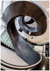 Helter Skelter !!! (kevingrieve610) Tags: spiral round twisted metal steel flickr wow 8mm fisheye fujifilm welcome museum london indoor perspective ultrawide samyang