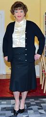 Birgit022387 (Birgit Bach) Tags: rock skirt blouse button satin cardigan bluse strickjacke knpfe