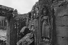 once upon a time (ababh) Tags: cambodia angkor angkorthom bayon devata rocks ruin abandoned remains fragment shadowplay