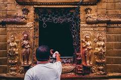 Faith. (Sabik Akand) Tags: travel nepal square temple faith squareformat kathmandu iphoneography instagramapp boudhonath
