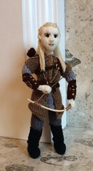 #Legolas #TheHobbit Tribute, sorry for the long wait. My #copyright photo and knitted design #Orlando #bloom (Denise Salway) Tags: new wool wales design evans orlando knitting doll comic dolls designer handmade witch five luke knit craft jackson yarn peter lotr zealand bloom tribute welsh knitted denise hobbit bard con tolkien dwarves legolas jrr designed the armies fibreart salway welshknitting