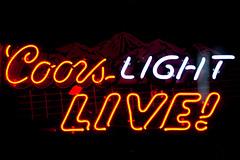 Gimme an American Beer Paul (Thomas Hawk) Tags: usa beer neon unitedstates nashville tennessee unitedstatesofamerica broadway coors coorslight