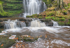 Autumn-Falls (petefoto) Tags: autumn waterfall rocks yorkshiredales settle scaleberforce platinumheartaward nikond700 bwnd106