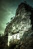 Felsenkirche - Crag Church, Idar-Oberstein (Bengin Ahmad) Tags: sky mountain building church rock sepia night germany dark deutschland rocks day metallic gothic holy gospel idar crag oberstein idaroberstein felsenkirche جبل جبال كنيسة صخور صخر cragchurch