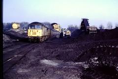 56065 Silverwood Colliery 04 Apr 96 (doughnut14) Tags: train grid diesel rail loco coal silverwood freight colliery stockpile class56 56065
