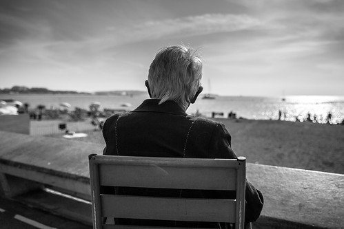Old man watching the beach, From FlickrPhotos