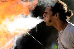 Powder and Flames (naturalturn) Tags: california usa man fire breath pioneer firebreathing sanjay breathing 2012 firedrums firebreath image:rating=5 firedrums2012 sopiagosprings sanjayramsarran image:id=127513