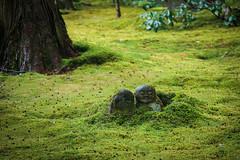 Sanzen-in Temple Garden (bobthemagicdragon) Tags: statue japan stone garden temple moss spring kyoto buddhism ohara sanzenin 2013