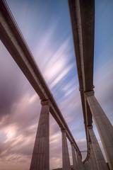 (FX-1988) Tags: bridge bw 30 train israel long exposure sigma structure explore filter nd infrastructure ישראל 1020 1000 10mm גשר הרכבת