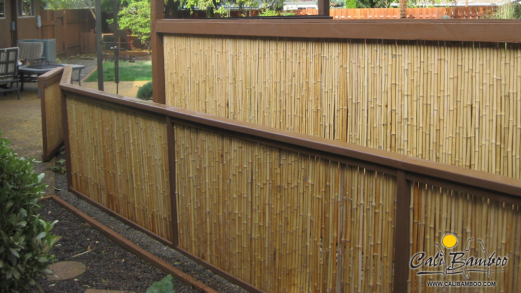 4ft x 4ft Natural Bamboo Fence - 1 Inch Diameter