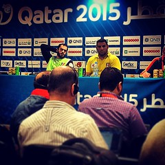 Egypt man of the match and the coach in presse conference #liveitwinit #egypt #handball #qatar_handball_2015 #qatar #doha #press_conference #instahand #instadoha #instaqatar @instaegypt #instaegypt #qatar_2015