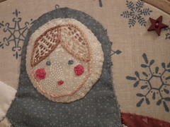 Christmas lady (Salted River) Tags: weihnachten navidad patchwork nol handpieced  handapplique