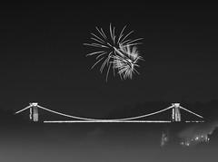 Happy Fireworks Night - Bonfire Night - Guy Fawkes Day (myfrozenlife) Tags: longexposure bridge england night canon bristol fireworks firework clifton cliftonsuspensionbridge