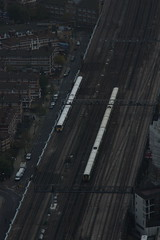 Toy Trains (gooey_lewy) Tags: from bridge london train toy model track view south railway trains east approach eastern shard southeastern