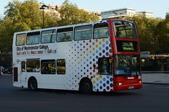 VP 571 LK 04 ELW Westminster (traveller498) Tags: city bus london college westminster all over double 98 route deck advert vp metroline 571 volvob7tl lk04elw