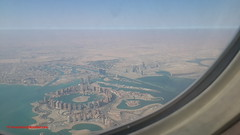 The Pearl-Qatar from Airplane after take off from Hamad International Airport - Qatar (Feras.Qadoura1) Tags: city airport state international hamad doha qatar       othh