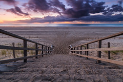 Stairway to the beach @ Maasvlakte 2 (Marcel Tuit | www.marceltuit.nl) Tags: ocean sunset holland beach me nature water colors strand stairs canon landscape eos coast zonsondergang rotterdam nederland thenetherlands natuur 7d trap landschap kust oceaan kleuren futureland maasvlakte2 marceltuit mainportrotterdam contactmarceltuitnl wwwmarceltuitnl