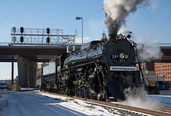 Returning from the North Pole (jterry618) Tags: railroad minnesota stpaul steam steamengine steamtrain 261 spud christmastrain santatrain steamlocomotive 484 northpoleexpress stpauluniondepot friendsof261