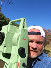 At work selfie. Great day to be outside. (guido1515) Tags: leica nature water sunshine outside jasper alabama engineering walker rod survey parrish selfie