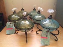 Oil lamps, 3 green, 3 blue (lisabrowning) Tags: target oillamps seanconway