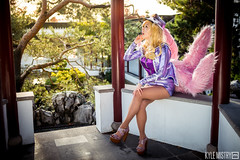Popstar Ahri (KyleMistry) Tags: sun anime nerd vancouver garden costume riot geek cosplay champion videogames cartoons popstar ahri leagueoflegends sunsatyen