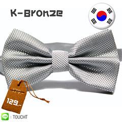 K-Bronze - หูกระต่าย สีเทาเงิน ผ้าเนื้อลาย สไตล์เกาหลี     (ขายปลีก ขายส่ง รับผลิต และ นำเข้า)