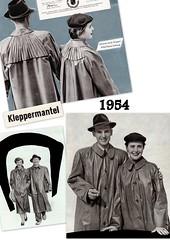 Kleppermode 1954 (dykthom1000) Tags: fashion 1954 raincoat mode rainwear klepper regenmantel kleppermode