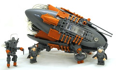 Exploration Vessel and Crew (Bart De Dobbelaer) Tags: robot lego space craft vessel crew exploration robb