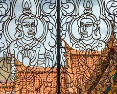 Bangkok (dominiquesainthilaire) Tags: nikond7100 bangkok temple grille ferforgé orange architecture religion religious bouddhisme buddhism devotion thailande thailand art window fenêtre religieux coth5 ngc worldtrekker infinitexposure thisphotorocks aasia awsomeasia