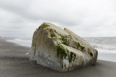 The Rock (Nicks.Place) Tags: sea newzealand cloud seascape beach nature water weather rock canon landscape outdoors photography eos photo photos overcast southisland westcoast cloudscape greymouth movingwater nicksplace pointelizabeth 5dmarklll wwwnicksplaceconz ef2470mmf28liiusm