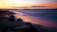 sundowner. (egal_ist_88) Tags: ocean light sea sky sun color reflection clouds canon eos long exposure stones mark iii baltic 5d