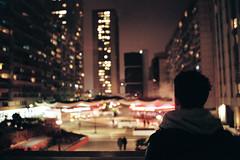 Sea of Lights (Louis Dazy) Tags: city urban film skyline nikon focus bokeh f2 selective