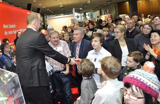 Neujahrsempfang der Stadt Mannheim 2015 - Preisübergabe des Gewinnspiels