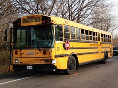 Liberty School District bus rear-ends another bus. 11.3.12. (dfirecop) Tags: school bus crash accident wreck dfirecop