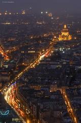Paris (Julianoz Photographies) Tags: light paris france building monument night cityscape invalides capitale nuit ville idf dme montparnassetower nikond7000 nikkoraf50mmf18g julianozphotographies