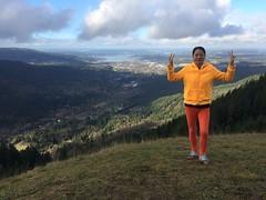 (yugenro) Tags: mountain outdoors liu friend day outdoor tiger vista vistas yi mountaintop poopoopoint