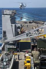 150114-N-CU914-387 (SurfaceWarriors) Tags: sea island exercise hawk flight navy lenny deck lacrosse platforms harrier makin certification comstock av8b certex mh60 hooyah usscomstocklsd45 lsd45
