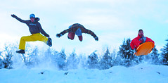 Brothers (hugo_leveque) Tags: winter friends light sky snow france grenoble fly movement brothers brother happiness flip luge frontflip