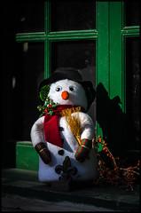 Snowman (Lens Bubbles) Tags: lens snowman inch distillerydistrict large f45 format 575 aldis anastigmat