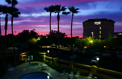 colorful sky (TEO DE THUONG) Tags: pink blue trees sky cloud color colors night lights purple sony a6000