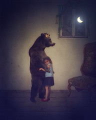 (Erika C. Brothers) Tags: bear family moon childhood dreams childrens imagination storytelling ipad ninght
