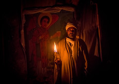 Ethiopian priest holding a candle during kidane mehret orthodox celebration, Amhara region, Lalibela, Ethiopia (Eric Lafforgue) Tags: africa portrait people man color men history church horizontal outdoors clothing worship day adult african faith religion headscarf ceremony monk christian unescoworldheritagesite celebration event devotion priest christianity shawl spirituality ethiopia pilgrimage worshipper religiouscelebration oneperson developingcountry candlelit lalibela orthodoxy hornofafrica ethiopian eastafrica placeofworship saintmary abyssinia traditionalclothing famousplace onemanonly onematuremanonly 1people amhararegion ethio163617