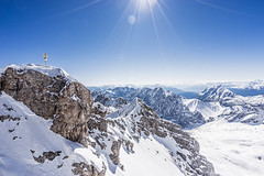 Highest point of Zugspitze (nureco) Tags: travel blue sun snow alps beautiful germany point landscape high earth top places discover highest zugspitze visitgermany beautifuldestinations nureco godiscoverworld