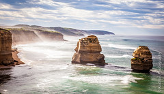 A Misty Scene of Twelve Apostles - Great Ocean Road (kodit0s) Tags: ocean sky cloud nature landscape australia victoria greatoceanroad hdr 12apostles canon5d2