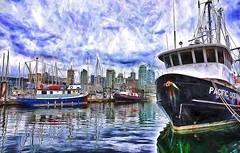 Pacific Ocean. Harbor Reflections. (kennethcanada1) Tags: canada vancouver reflections harbor fishing kennethcanada