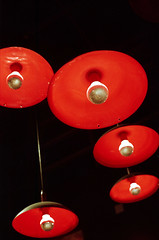 Red Lamps (Orion Alexis) Tags: light red film lamp crimson night analog 35mm photography nikon superia 400 fujifilm analogue 135 fe cinematic