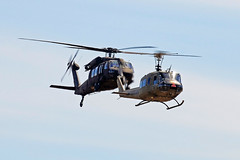 UH-1 & UH-60 (planephotoman) Tags: 1964 bell uh1 uh1b huey nx812sb 117 13553 6413553 unitedtechnologies sikorsky uh60 uh60a blackhawk n536xn 023421 8023421 northwesthelicopters 2016olympicairshow olympiawa tumwaterwa olm kolm