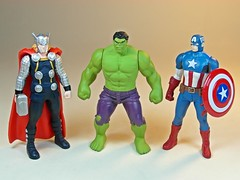 Takara Tomy  Metal Collection (Metacolle) Marvel and Star Wras Diecast Figures Series  Thor, Hulk & Captain America (My Toy Museum) Tags: man metal america star spider spiderman collection captain wars hulk thor marvel takara tomy c3po diecast metacolle